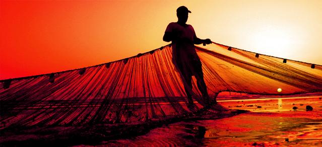 flexible redes de pesca